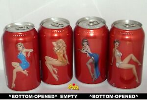 2005 OLD MILWAUKEE GIRLS SEXY BEER CANS SET EARLY STROH'S CANADA ONTARIO DAMAGED