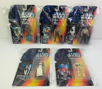 Lot Of 5 - VTG Star Wars The Power of the Force 1995 Kenner Action Figures NIB
