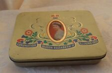 Cadbury Queen Elizabeth II vintage coronation tin (empty) - yellow