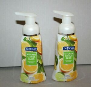 Lot of 2 Softsoap Kitchen Citrus Bliss Foaming Hand Soap 8 oz Discontinued - HTF