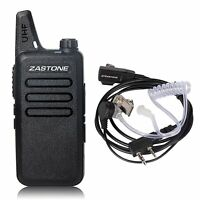 Zastone ZT-X6 UHF 400-470MHz 16 channels Walkie Talkie Mini portable Radio Black