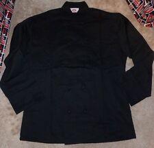 NEW 350 Chef Apparel 10 Knot Button Chef Coat-Easy-Care Twill Black Medium M