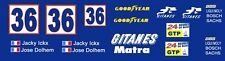 #36 Gintanes Matra 670 Group C 1/32nd Scale Slot Car Decals