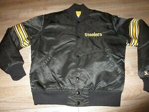 Pittsburgh Steelers Steel Curtain NFL Football Starter Jacket Medium M mens