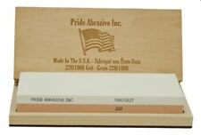Pride Abrasive 220/1000 Water Stone, Knife Sharpening whetstone USA made in box