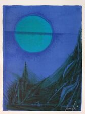Cesare PEVERELLI : Clair de lune - LITHOGRAPHIE ORIGINALE SIGNEE # 1972