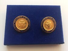 Vintage 1970s President Gerald Ford Presidential Seal Cufflinks Jewelry Box