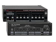 RDL RU-ADA4D 2x4/1x8 Balanced/Unbalanced Audio Distribution Amplifier