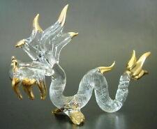 Vitraux Serpent, Dragon Serpent Or & Givré Verre à motifs Ornement Cadeau