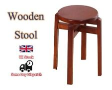 Pure WOODEN STOOL Home offic Kitchen Chair Seating Kids/Adults Room Furniture UK