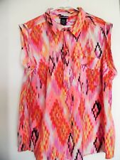 WOMEN'S LYS (LOVE YOUR STYLE) MULTI COLOR  TUNIC TOP - SIZE 3XLARGE