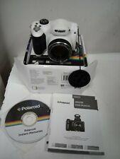 NEW Polaroid iE4038 Digital Camera Kit w/40x Optical Zoom 18MP HD Video WHITE