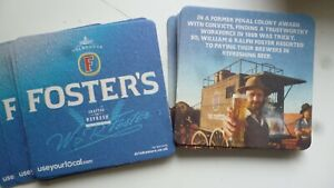 card bar mats x 20 - fosters - home bar mancave pub