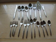 20 Pcs Dorzel by Hull Swedish Modern Stainless Flatware