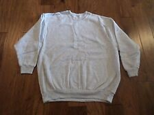 GRAY SWEATSHIRT HEAVY WEIGHT MADE IN THE U.S.A COTTON BLEND X-LARGE