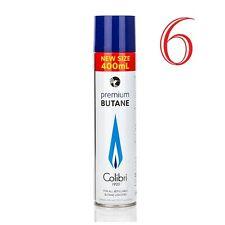 Colibri - Recharge Colibri Gaz Butane 6 x 400ml pour briquets - Qualitè Premium