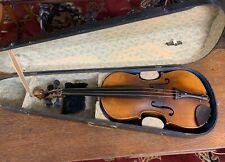 Antique 4/4 Full Violin & Wood Coffin Case South Carolina Estate Find