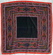 Vintage Scarf / Bandanna 100% Silk Bill Blass Bright Psychedelic Pattern