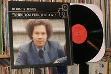 "RODNEY JONES ""When You Feel The Love"" 1980 Timeless LP (marcus miller)"
