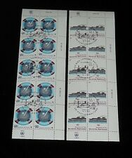 U.N. 1983, VIENNA #31-32, SAFETY AT SEA. INSC. BLKS/10, CTO, NICE!! LQQK!!