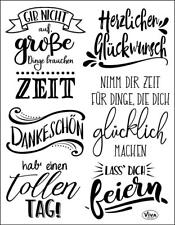 VIVA DECOR Clear Stamps MY PAPER WORLD Silikon Stempel Texte LETTERING 168a