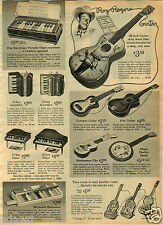 1965 PAPER AD Toy Guitar Roy Rogers Woody Woodpecker Bugs Bunny Porky Pig Uke