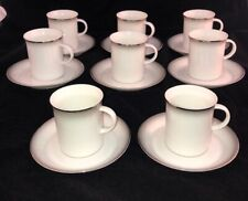 Rosenthal EVENSONG Platinum Trim 8 Cup & Saucer Sets