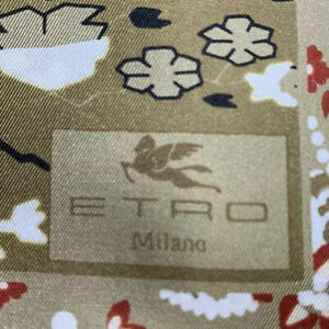 New Exquisite ETRO pochette Bangalore 45 x 45cm pocket silk handkerchief scarf ,