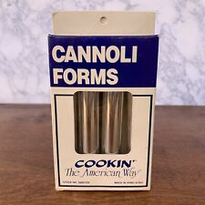 Lot Of 8 Cannoli Forms Norpro & Cookin The American Way