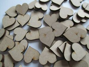 Pack of 100 x 30mm wooden hearts for family trees embellishments crafts scrapboo