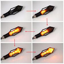 2pcs Flexible 12LED Motorcycle Flowing Turn Signal Lights/Blinker/Indicator Lamp