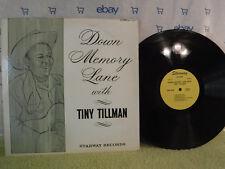 Tiny Tillman, Down Memory Lane, Starway Records LP 001, Country