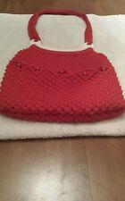 Handmade Macrame red purse