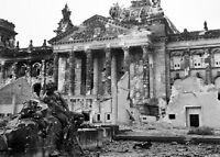 "Ruins of the Reichstag in Berlin Allied Bombing 5""x7"" World War II WW2 Photo 551"