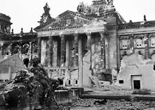 "Ruins of the Reichstag in Berlin Allied Bombing 5""x7"" World War II WW2 Photo 551"