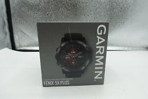 Garmin fenix 5X Plus, Ultimate Multisport GPS Smartwatch , Black with Black Band