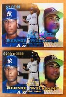 1999 FLAIR SHOWCASE SHOWPIECE LEGACY COLLECTION Bernie Williams SP #/99 & #/3000