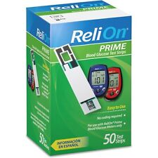 ReliOn Prime Blood Glucose Test Strips, 50-Count  (EXP : 11-2018)