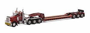 "Peterbilt 379 Truck w/ 3 Axle Rogers Lowboy Trailer ""BAY CRANE"" - 1/50 - WSI"