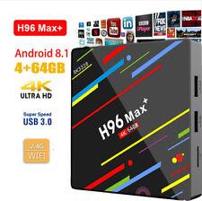 UK H96 Pro MAX+ 4GB 64GB Android 8.1 TV Box K18.0 Smart Network Media Player