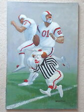 "Robert Owen Original Oil Painting Football Clowns ""Shadow""    24""x 36"""