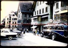 1950s Brünigstrasse Lungern Switzerland Hotel Lowen Bus (1960s Dupe slide) s625