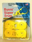 New~Pack 4 Byers' Super Snap Reusable Grommets For Tarps Portable Camping -USA