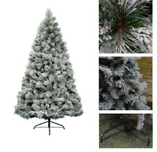 Snowy Vancouver Mixed Pine White Green Artificial Christmas Xmas Tree - 5 Sizes