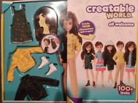 Creatable World Deluxe Character Kit Golden Skin Brown Wavy Hair DC-965 New