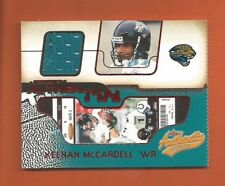 2002 AUTHENTIX RIPPED KEENAN McCARDELL GAME-USED JERSEY #JA-KM JAGUARS
