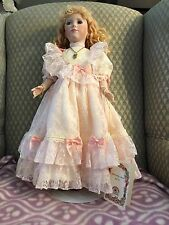 """Tia 20"""" Porcelain doll by Josephine Knight  American Artist collection"""