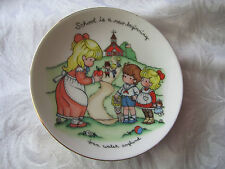 Vintage Joan Walsh Anglund Plate School is a New Beginning Avon 1986 porcelain