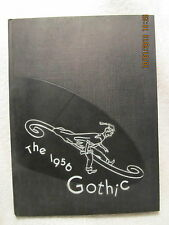 1956 Yearbook Bloomington High School IN Gothic Grades 7 Thru 12 With Signatures