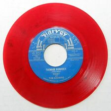 TERRY & CROWNS Teenage Romance / Shelly My Love White Doo Wop RED WAX H808 HEAR